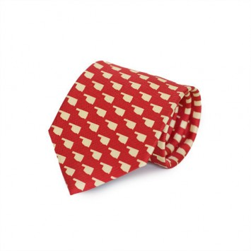 Red OK Gameday Tie